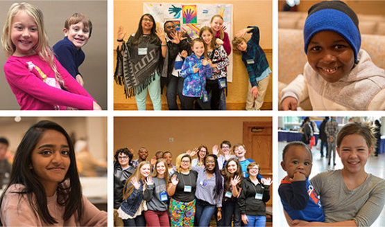 A series of 6 images showing youth in Eckankar